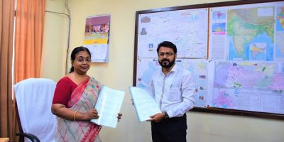 With Dr. Banerjee, Director, NATMO at the MoU signing ceremony