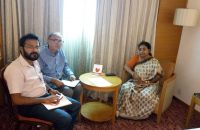 With Prof.R.B.Singh, Gen Secr, IGU and Dr.Tapati Banerjee, Director, NATMO