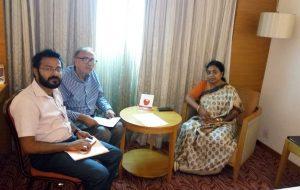 With Prof.R.B.Singh, Gen Secr, IGU and Dr.Tapati Banerjee, Director, NATMO