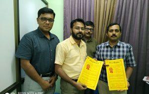 Signing MoU with Vidyasagar University, Midnapore, W.B